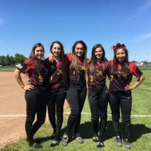 Raider softball athletes